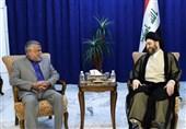 حکیم در دیدار با عامری: عراق باید در حفظ آرامش منطقه نقش محوری داشته باشد