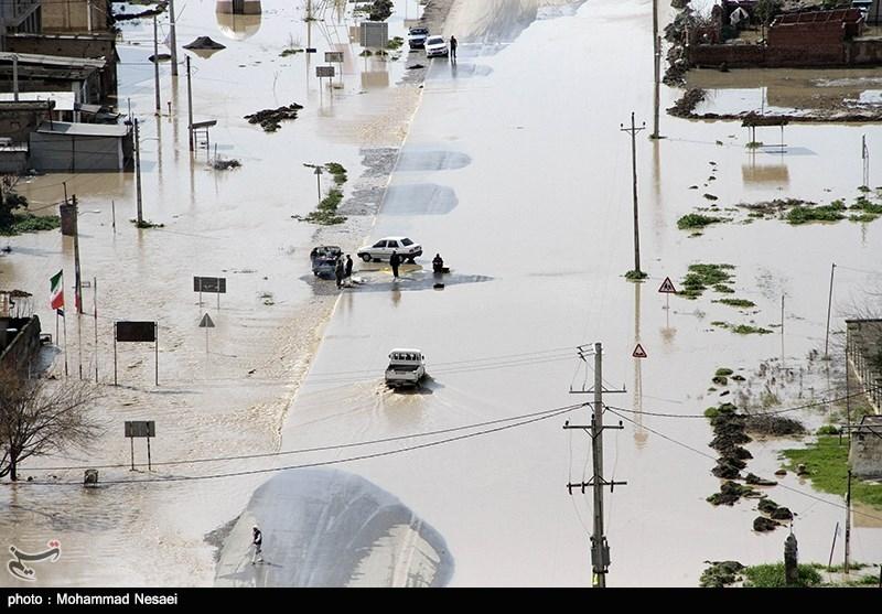 5 محور استان گلستان همچنان مسدود است