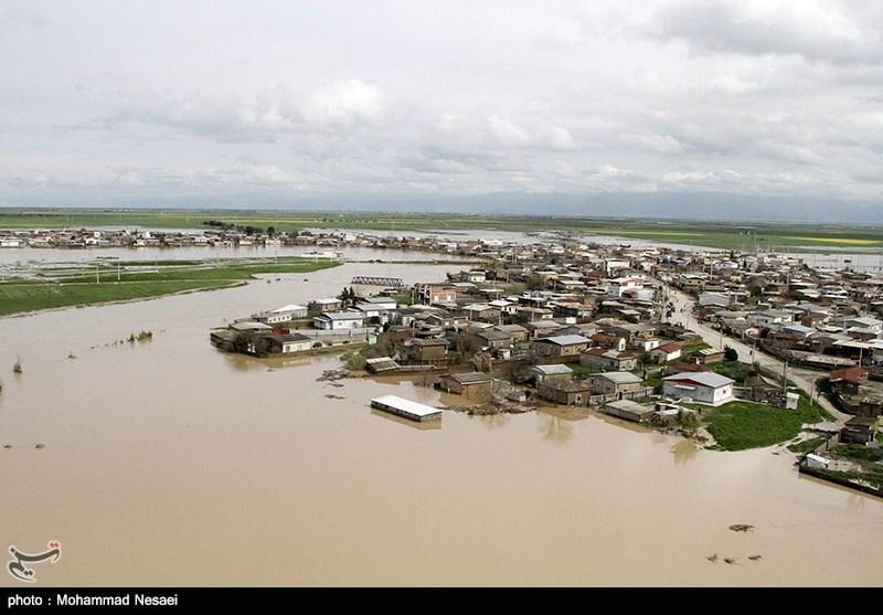 ارتفاع 40 سانتیمتری آب در آققلا؛ سیلاب هنوز وارد منازل مسکونی نشده است