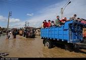 بازدید هوایی وزیر اقتصاد از مناطق سیل زده استان گلستان