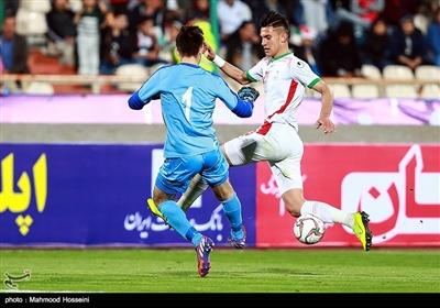 دیدار تیم های فوتبال امید ایران و ترکمنستان