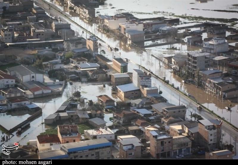 محورهای مسدود استانهای گلستان و مازندران به دلیل سیلاب