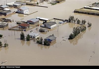 ایران کے صوبے گلستان کے گائوں آق قلا میں سیلاب