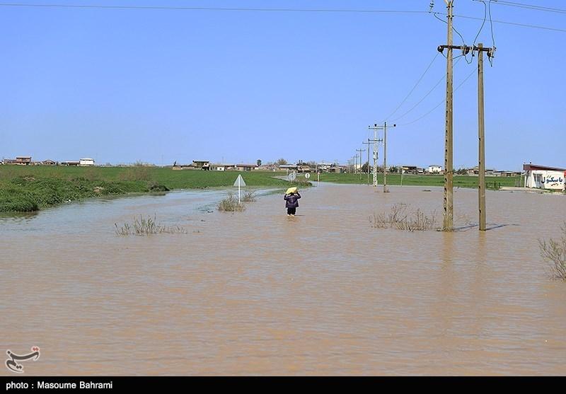 چند محور روستایی و یک محور اصلی در جنوب استان کرمان بر اثر بروز سیلاب مسدود شد