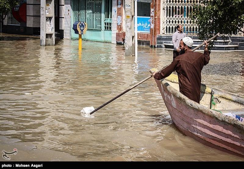 گلستان|گمیشان در محاصره آب/ همه مسیرهای ارتباطی شهر براثر سیلاب مسدود شد