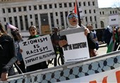 Pro-Palestine Protesters Gather outside AIPAC Conference in Show of Defiance (+Video)