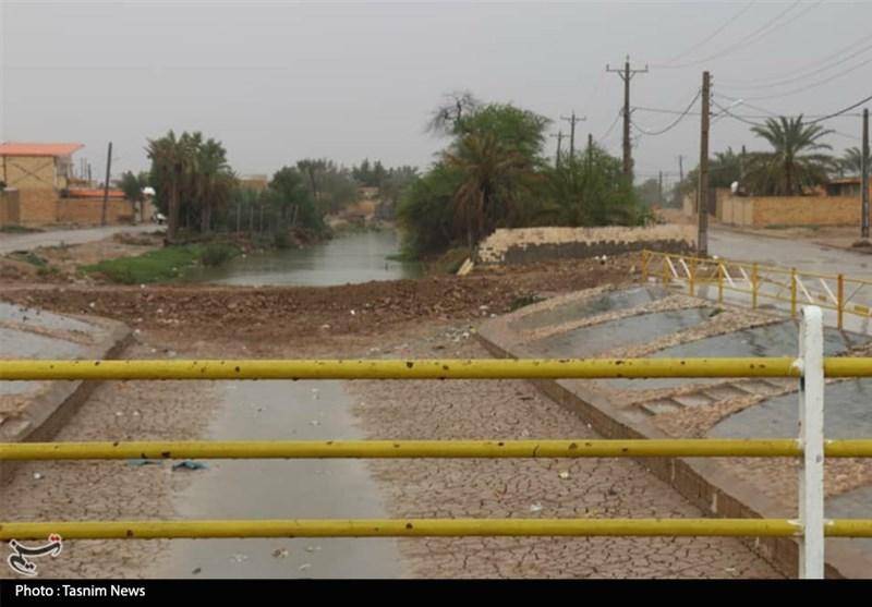 احداث سیل بند مقابل نهر قصر در اروندکنار + تصویر