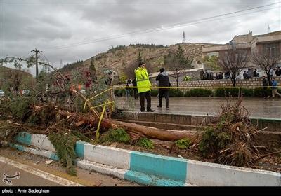 خسارت سیل در شیراز