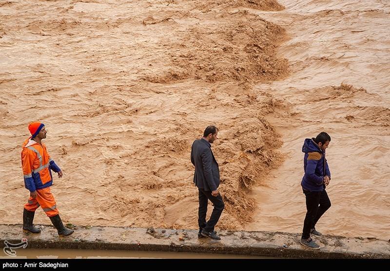 علت سیلاب شیراز مشخص شد؛ طغیان رودخانه آب زنگی و ریزش آب از ارتفاعات