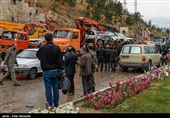 """شاهد.. """"بوابة القرآن"""" فی شیراز بعد یوم من السیول الجارفة"""