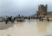 "بالصور..""تخت جمشید"" فی محافظة فارس بعد انحسار السیول"