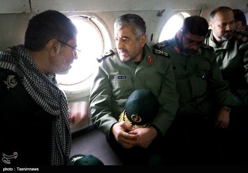 بازدید هوایی فرمانده سپاه از مناطق سیلزده خوزستان