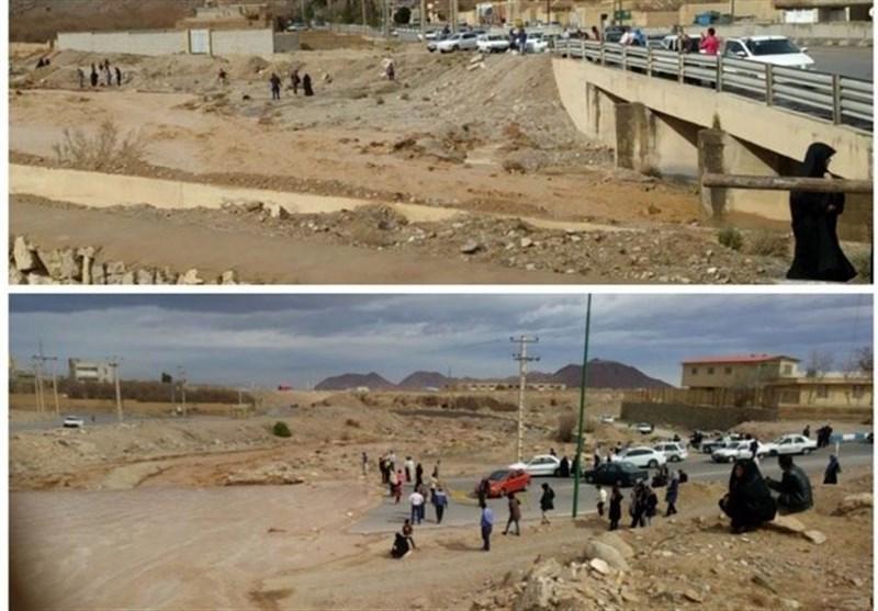 یزد| خروش روخانه تفت پس از 20سال خشکسالی پیاپی
