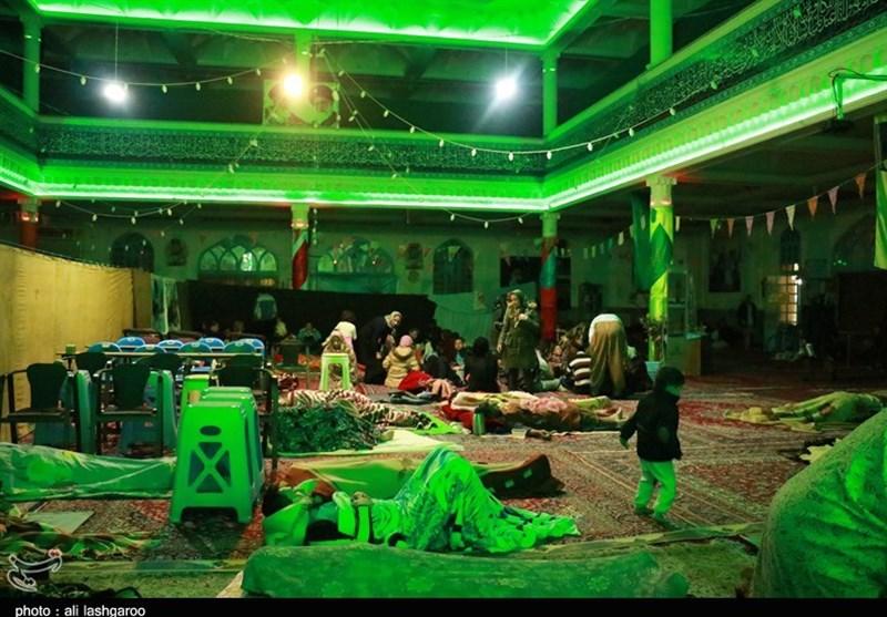 اسکان اضطراری مسافران نوروزی در مساجد شهر سمنان+تصاویر