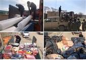 کمکرسانی قرارگاه جهادی امام رضا(ع) به سیلزدگان