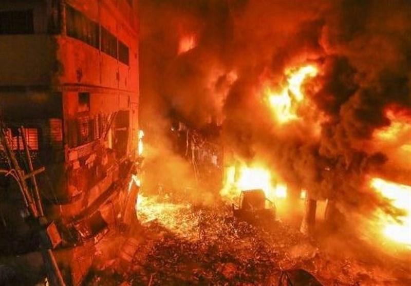 آتش سوزی مهیب در پایتخت بنگلادش