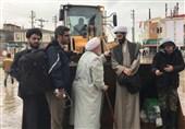 حضور نماینده مجمع تقریب مذاهب اسلامی در منطقه سیلزده اهل سنت آققلا