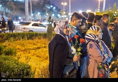 مراسم یادبود قربانیان سیل شیراز