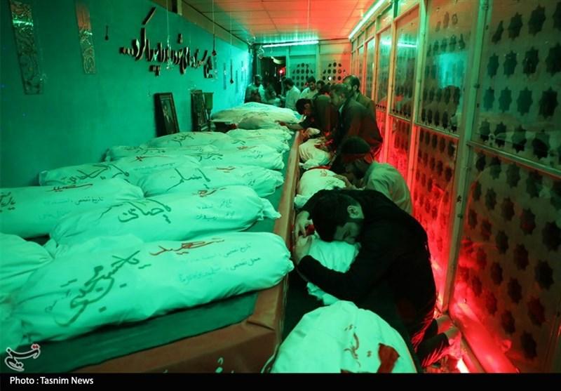 خوزستان وداع خادمین شهدا با پیکرهای مطهر شهدای گمنام + تصاویر