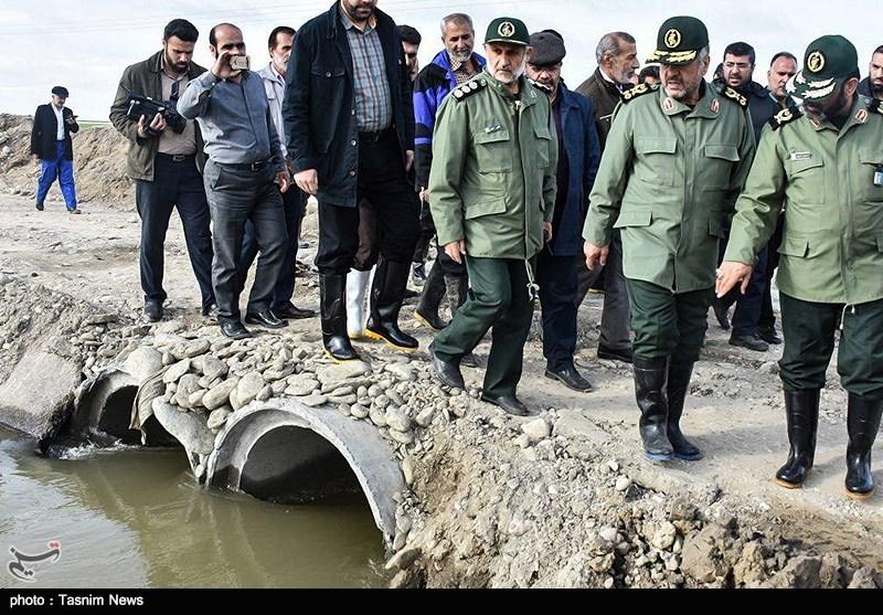 سردار جعفری: انفجار خط آهن برای سرعت بخشیدن به تخلیه آب بود/ مردم منطقه در فشار هستند/ به ما تهمت نزنید+فیلم