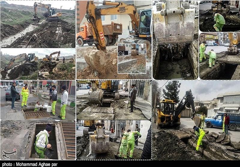 احداث آببند در مسیلهای ارومیه/ نقاط حادثهخیز درونشهری ارومیه لایروبی شد