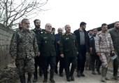 بازدید فرمانده سپاه از مناطق سیلزده مازندران + تصاویر