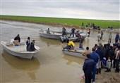 ساخت پلهای خاکی برای پایان محاصره سیل در گمیشان گلستان + تصاویر