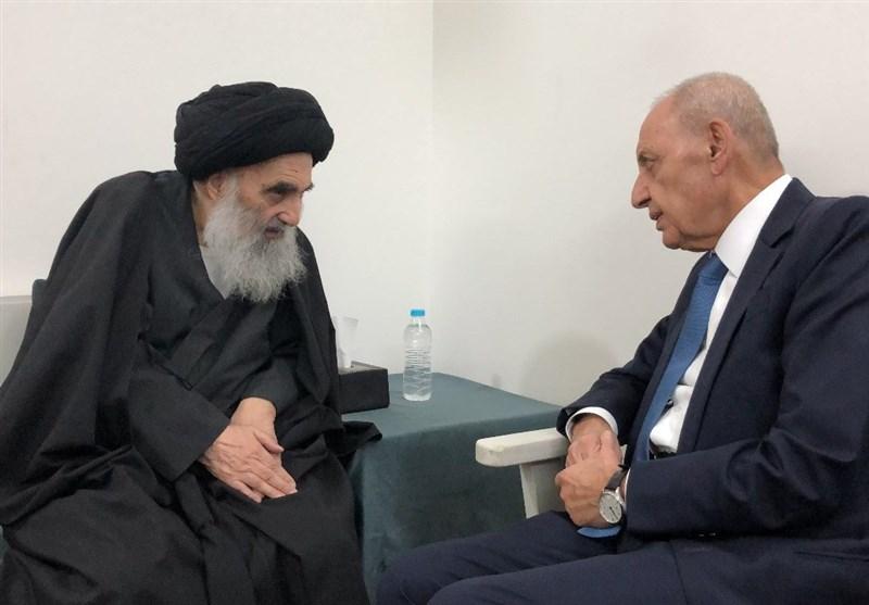 پیام تسلیت «نبیه بری» به نخستوزیر و مرجعیت دینی عراق