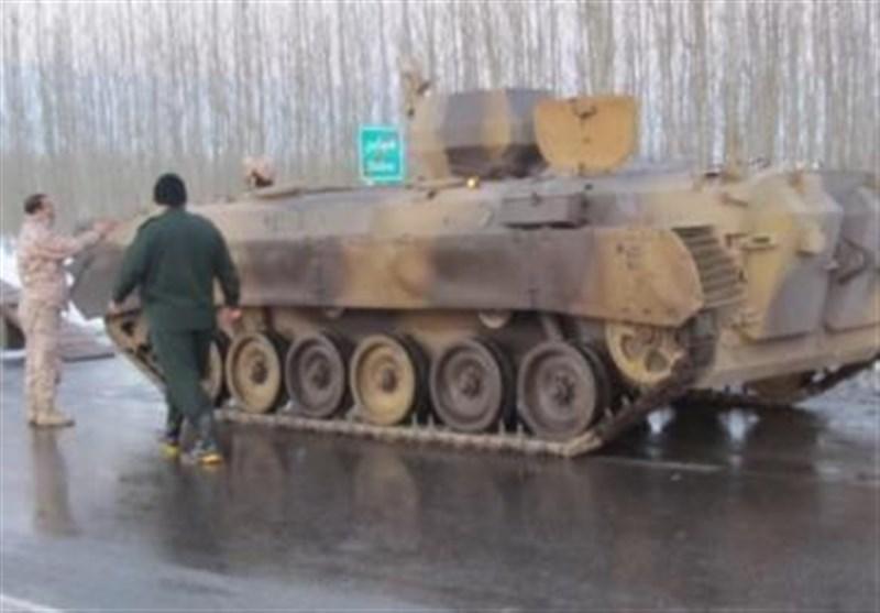 نقش نفربرهای نیروهای مسلح به آسیب دیدگان سیل خوزستان + فیلم