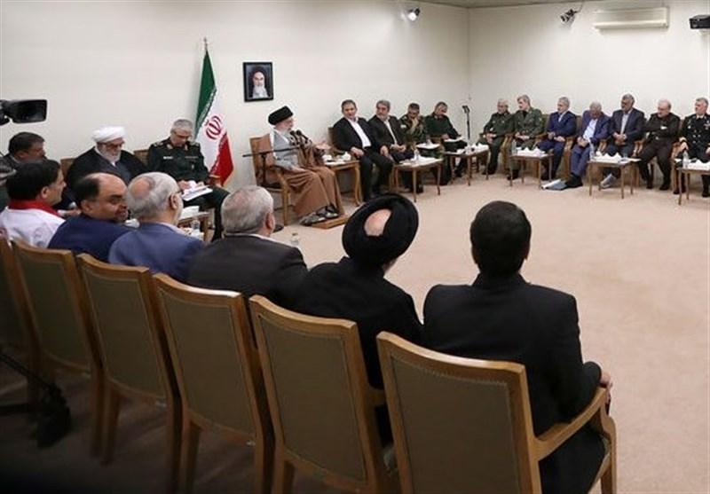 جلسه ویژه بررسی آخرین وضعیت مناطق سیلزده و اقدامات در حضور امام خامنهای برگزار شد