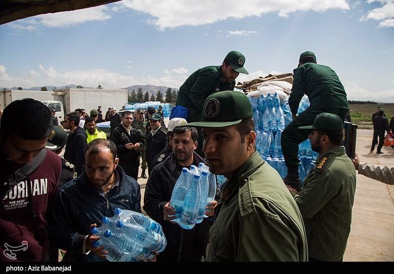 امدادرسانی بالگردهای هوافضای سپاه در خوزستان + فیلم