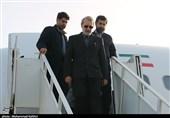 لاریجانی برای بازدید از مناطق سیل زده وارد فرودگاه چابهار شد