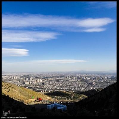 """هوای تهران """"پاک"""" است/ افزایش دمای هوای تهران در روز آینده"""