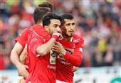 لیگ برتر فوتبال|برتری پرسپولیس مقابل پیکان در نیمه اول