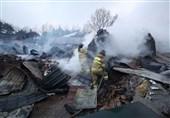 تلاش آتش نشانان برای مهار آتش سوزی گسترده کره جنوبی