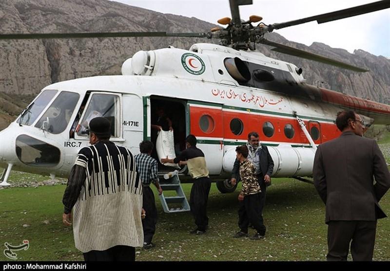 خوزستان|تداوم امداد رسانی هوایی به روستاهای سیل زده دزفول+تصاویر