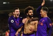 فوتبال جهان|لیورپول با شکسته شدن طلسم گلزنی صلاح بار دیگر صدرنشین شد