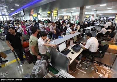 کیش ایئرپورٹ پر نوروز کے مسافروں کا رش