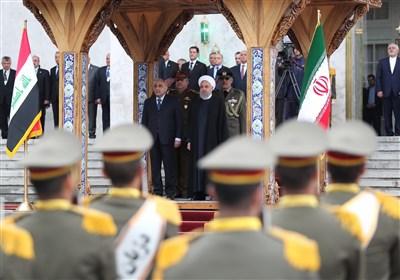 الرئیس روحانی یستقبل رئیس الوزراء العراقی