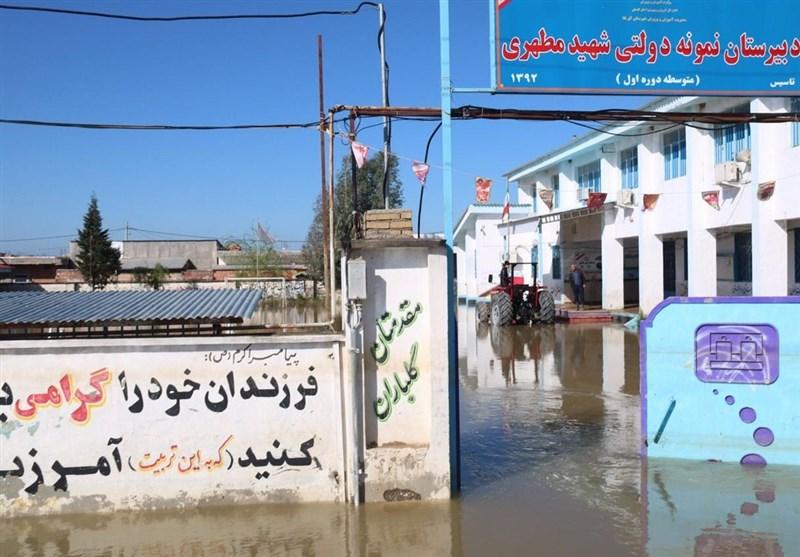 آسیب سیل به 538 مدرسه خوزستان