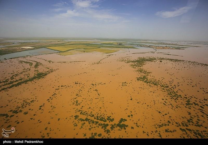 تصاویر هوایی از مناطق سیل زده منطقه بامدژ