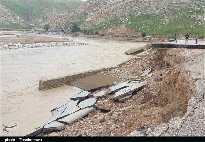 چهارمحال و بختیاری| جاده ارتباطی ۵۳ روستا در شهرستان کوهرنگ قطع شد