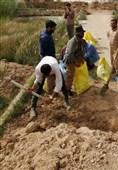 خوزستان|60 نیروی جهادی از آبادان به منطقه سیلزده دارخوین اعزام شدند