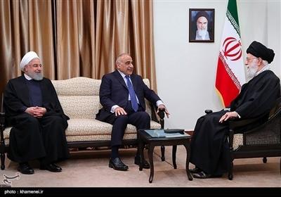 عراقی وزیراعظم عادل عبدالمہدی کی امام خامنہ ای سے ملاقات