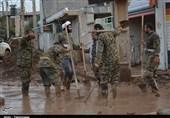 650 نفر از گروههای جهادی بسیجی و پاسدار سمنان در پلدختر خدمترسانی میکنند