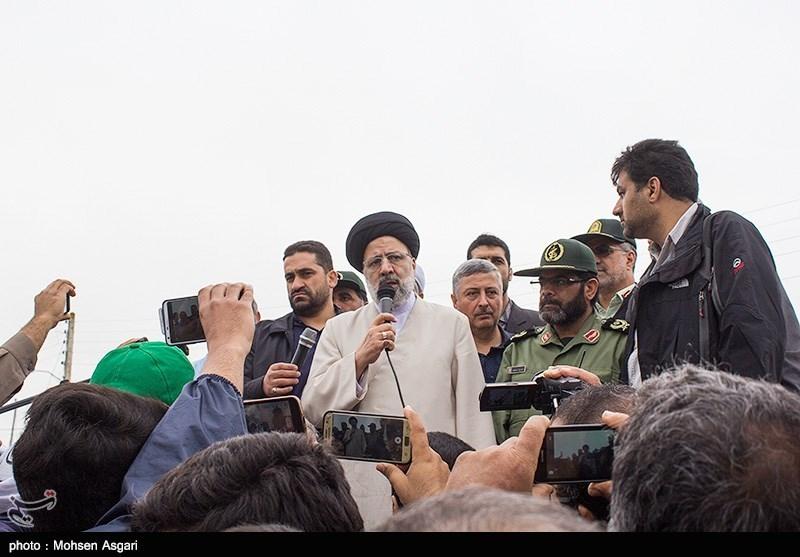حجتالاسلام رئیسی:سازمان بازرسی دلایل وقوع سیل در گلستان را بررسی میکند/ در سختیها در کنار هم هستیم + فیلم