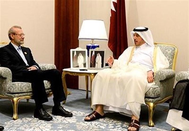 لاریجانی یلتقی رئیس وزراء قطر
