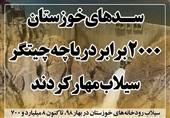 فتوتیتر  سدهای خوزستان 2000 برابر دریاچه چیتگر سیلاب مهار کردند