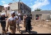 فیلم/ گروههای جهادی مدارس سیلزده گلستان را برای دانشآموزان آماده میکنند