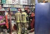 مرگ دلخراش صاحبمغازه بین بالابر و دیوار + تصاویر